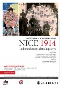 Affiche de l'exposition : Nice 1914, Le basculement dans la guerre