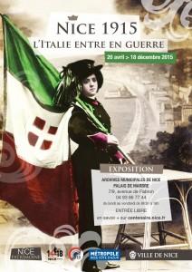 Affiche de l'exposition : Nice 1915, l'Italie entre en guerre