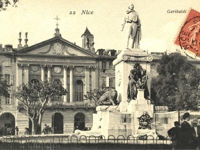 Carte postale ancienne de l'exposition Nice 1915, l'Italie entre en guerre