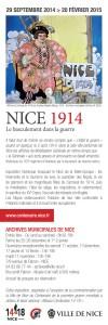 Marque page recto : Nice 1914, Le basculement dans la guerre