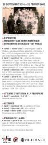 Marque page verso : Nice 1914, Le basculement dans la guerre