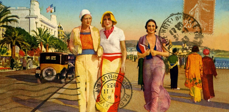 Carte postale ancienne à l'exposition 1917 Nice l'Américaine