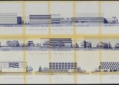 Façades et coupes, 1973