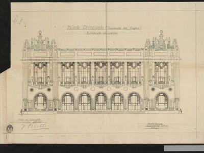 Les plans de construction du Palais de la Méditerranée
