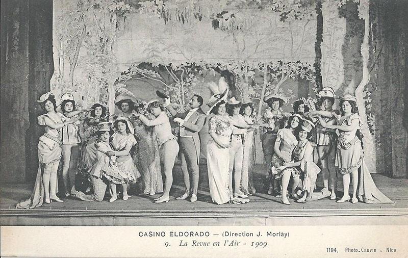 Revue au casino l'Eldorado, carte postale, éd. Cauvin, Nice, début XXe. (Collection particulière)