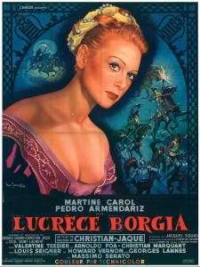 Affiche du film Lucrèce Borgia avec Martine Carol