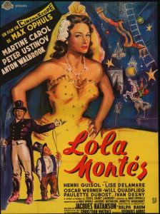 Affiche du film Lola Montès par André Bertrand
