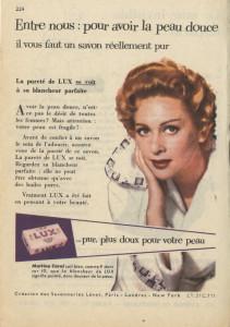 Publicité pour le savon LUX [1956] avec Martine Carol