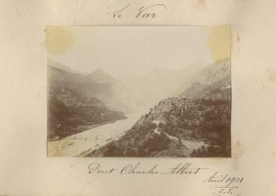 Le Pont Charles-Albert sur le Var en 1901