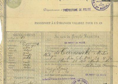 Passeport de Michel de Tarnowsky
