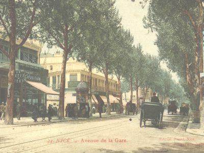 L'angle de la rue Pastorelli et de l'avenue de la Gare fin XIXe