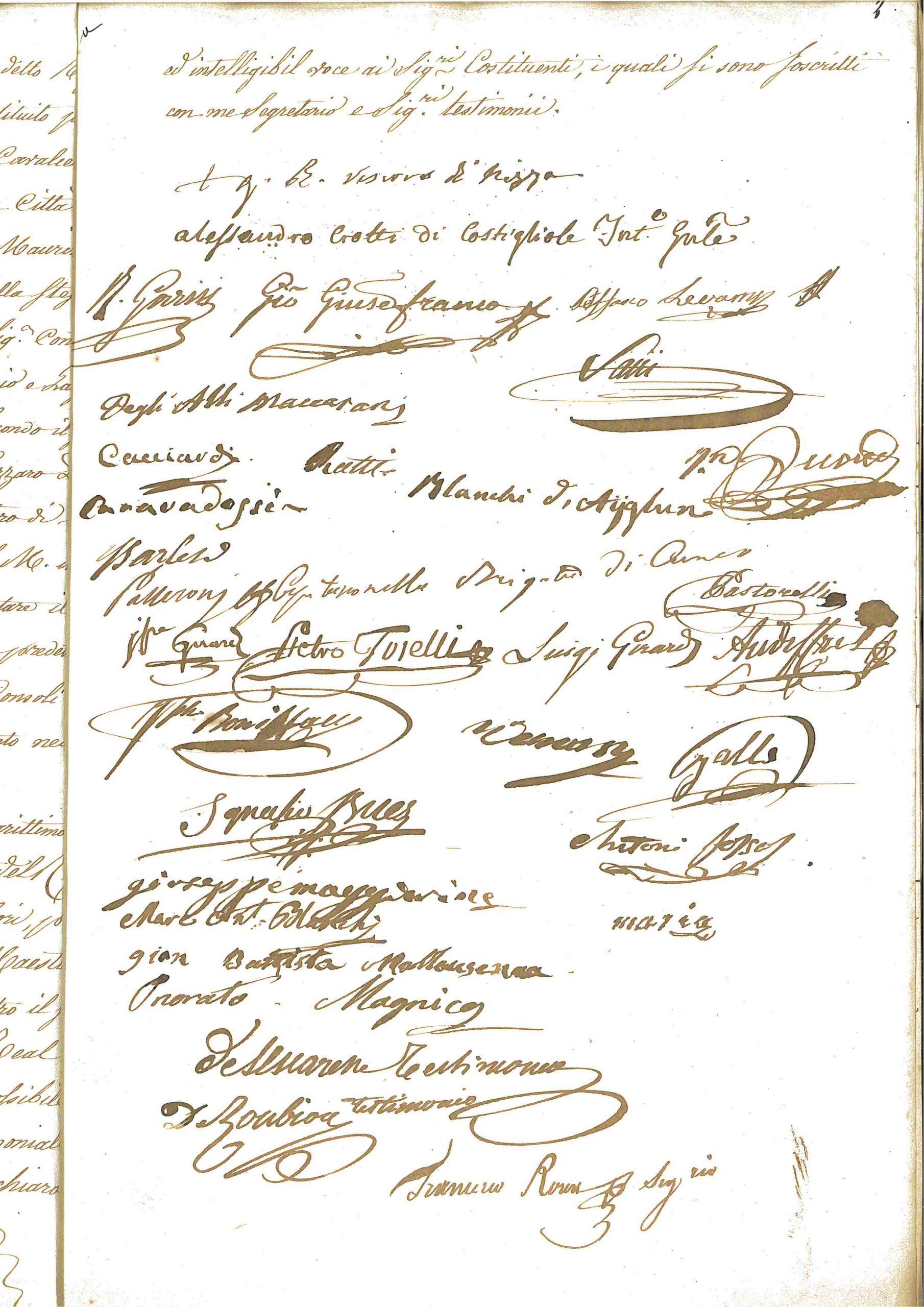 Prestation de serment des nobles niçois, 1822