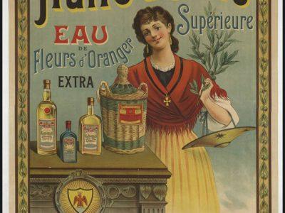 affiche publicitaire pour l'huile d'olive Nicelle