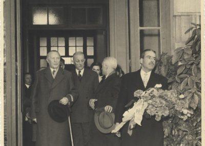 Arrivée du chancelier Adenauer, 1er février 1958