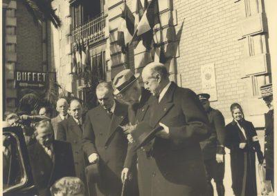 Arrivée du roi de Suède, 12 mars 1948