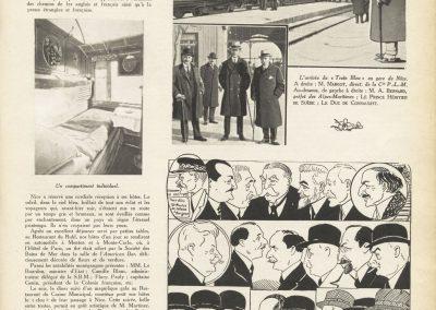 Inauguration du train bleu (article de presse)