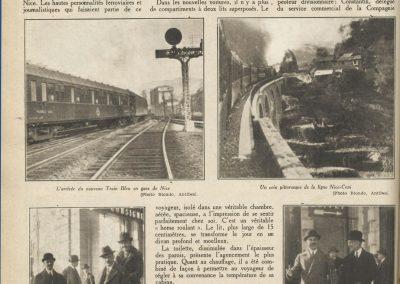 Inauguration du nouveau train bleu (article de presse)